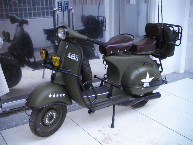 Restored Scooters, Vespa, Lambretta For Exports Mainly To Europe