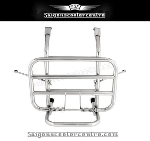 Scomadi Front flip down rack with side clamps (no drilling required) Highly polished stainless finish